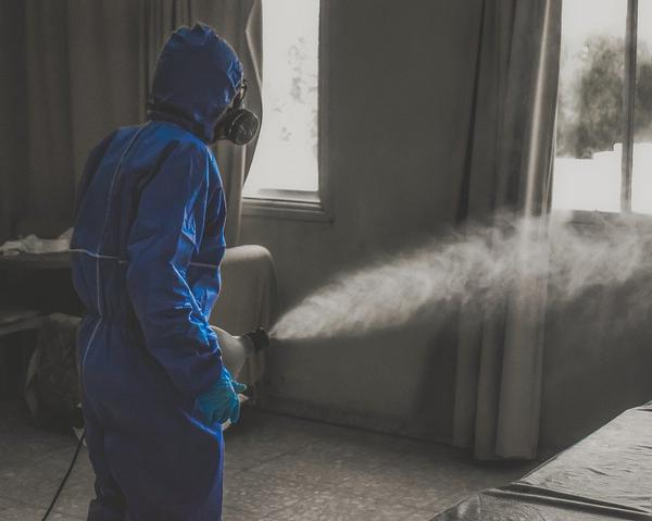 Efektywna specjalna dezynfekcja pomieszczeń przez zamgławianie